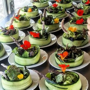 Cucumber wrapped salad - Whiskey Creek Ranch
