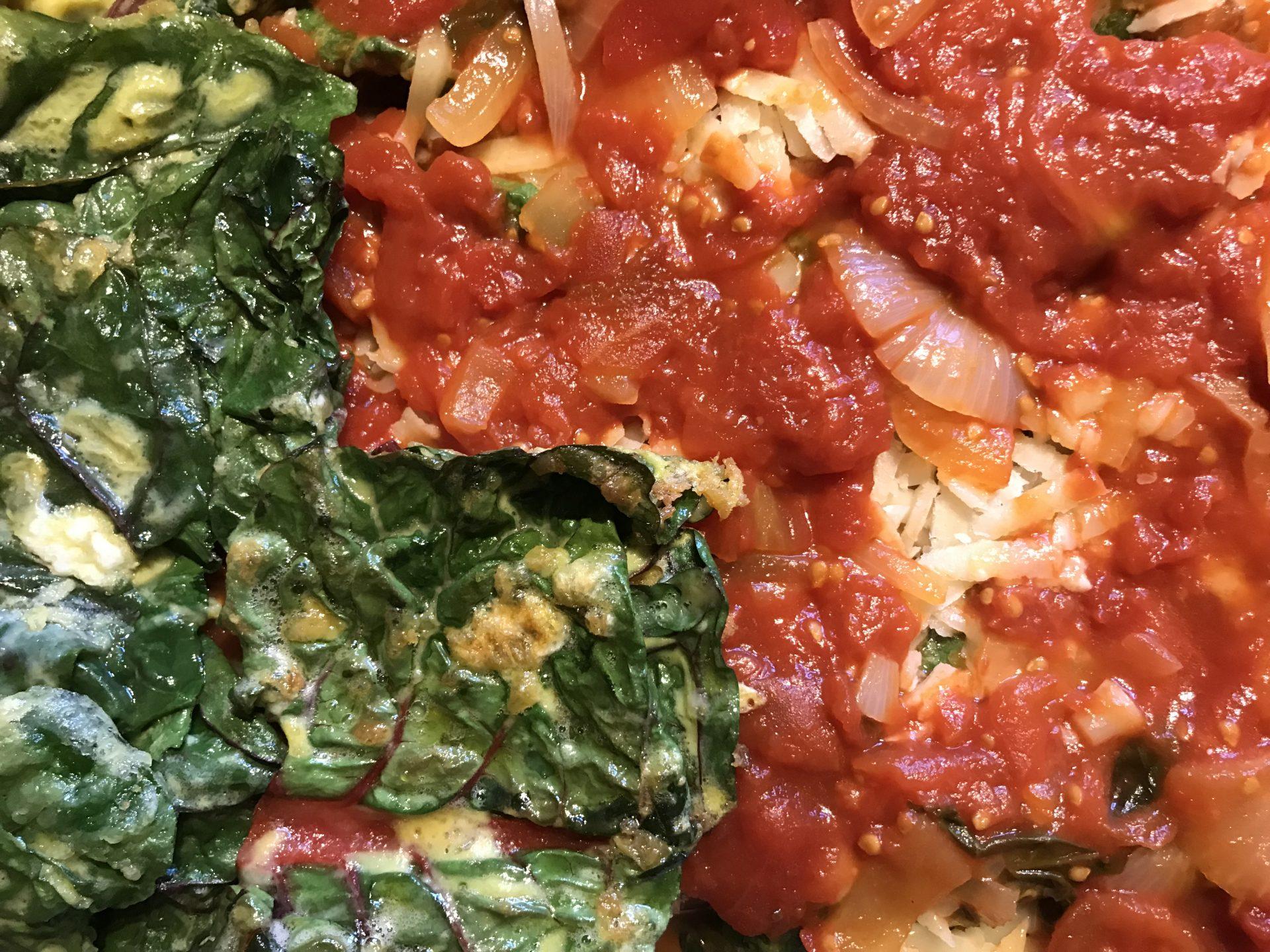 Parmigiana di bietole (Swiss chard parmigiana)